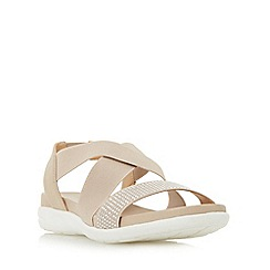Roberto Vianni - Natural 'Linton' elasticated cross strap sporty sandals