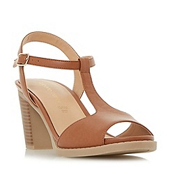 Roberto Vianni - Tan 'Jockey' t bar high block heel sandals