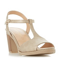 Roberto Vianni - Gold 'Jockey' t bar high block heel sandals