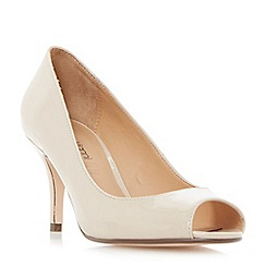 Roberto Vianni - Natural 'Cazra' mid heel peep toe court shoes