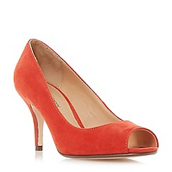 Roberto Vianni - Red 'Cazra' mid heel peep toe court shoes
