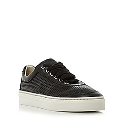Roberto Vianni - Black 'Egham' comfort perforated lace up trainers