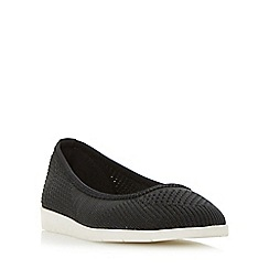 Roberto Vianni - Black 'Elly' knitted sporty sole flat shoes