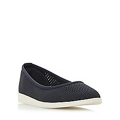 Roberto Vianni - Navy 'Elly' knitted sporty sole flat shoes