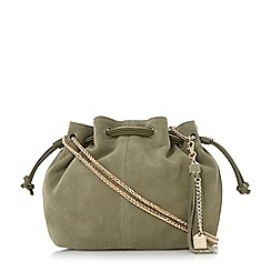Dune - Khaki 'Datchett' chain drawstring bag
