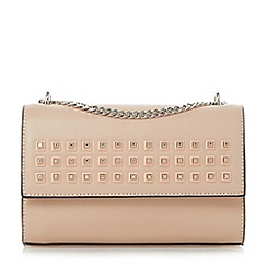 Dune - Light pink 'Dazer' studded chain shoulder bag