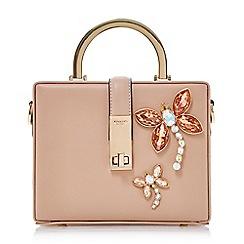 Dune - Light pink 'Darimeya' jewelled dragonfly box handbag