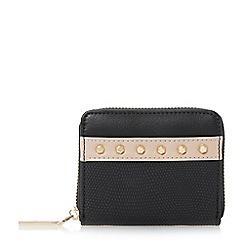 Dune - Black 'Kookie' studded small zip around purse