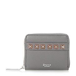 Dune - Grey 'Kookie' studded small zip around purse