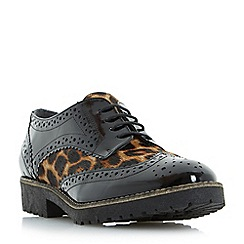Dune - Multicoloured 'Faune' mixed material lace up brogue