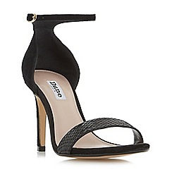 Dune - Black 'Mortimer' two part ankle strap sandals