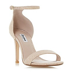 Dune - Light pink 'Mortimer' two part ankle strap sandals