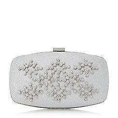 Roland Cartier - Silver 'Berosa' embellished hard case clutch bag