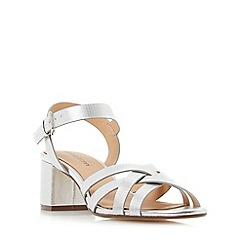 Roberto Vianni - Silver 'Jenner' block heel strappy sandals