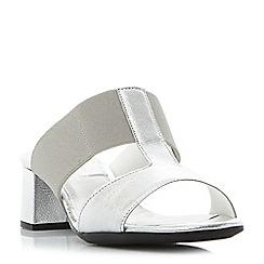 Roberto Vianni - Grey 'Joyford' comfort block heel mule sandals