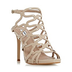 Dune - Natural 'Meemie' looped caged high heel sandals