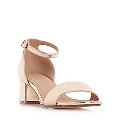 Head Over Heels by Dune - Rose 'Ireena' two part block heel sandals