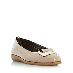 Roberto Vianni - Natural 'Holt' metal trim ballerina shoes