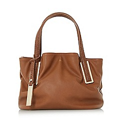 Dune - Tan 'Dolliss' slouchy double top handle bag