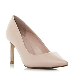 Dune - Light pink 'W abbigail' wide fit pointed toe court shoes