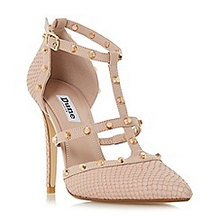 Dune - Light pink 'Daenerys' studded high heel court shoes