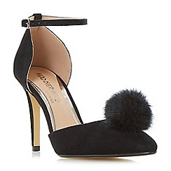 Head Over Heels by Dune - Black 'Cresseda' two part pom pom court shoes