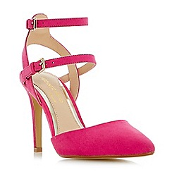 Head Over Heels by Dune - Pink 'Cadi' pointed toe double buckle court shoes