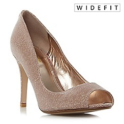 Dune - Rose 'W dinaa' peep toe high heel court shoes