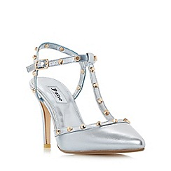 Dune - Blue 'Catelyn' studded t-bar open back court shoes