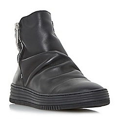Dune - Black 'Quake' sporty ruched detail ankle boots