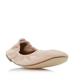 Dune - Natural 'History' elasticated topline ballerina shoes