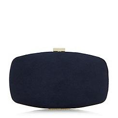Roland Cartier - Navy 'Bryn' hard case frame detail clutch bag