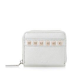 Dune - Silver 'Kookie' studded small zip around purse