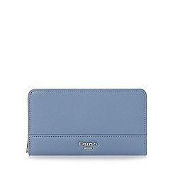 Dune - Blue 'Kabana' slim zip around purse