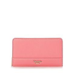 Dune - Pink 'Kabana' slim zip around purse