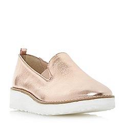 Dune - Rose 'Guise' slipper cut flatform shoes