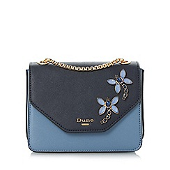 Dune - Blue 'Elady' jewel embellished flap over bag