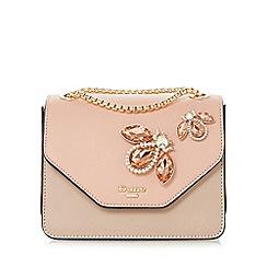 Dune - Light pink 'Elady' jewel embellished flap over bag