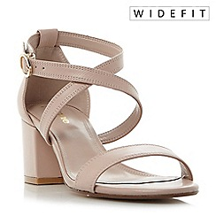 Dune - Light pink 'W montie' cross strap block heel sandals