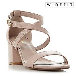 Dune - Light pink 'W montie' cross strap block heel sandals