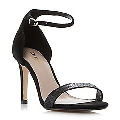 Dune - Black 'W mortimer' wide fit two part high heel sandals