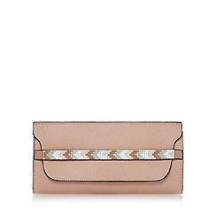 Dune - Natural 'Kendal' beaded strap purse with removable card holder