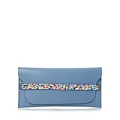 Dune - Blue 'Kendal' beaded strap purse with removable card holder