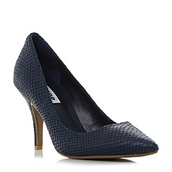 Dune - Navy 'Aeryn' mid heel flex sole court shoes