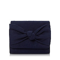 Head Over Heels by Dune - Navy 'Bernette' knot detail clutch bag