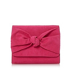 Head Over Heels by Dune - Pink 'Bernette' knot detail clutch bag