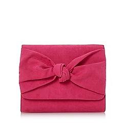 Head Over Heels by Dune - Pink 'Bernette' knot detail clutch bag