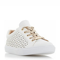 Head Over Heels by Dune - White 'Elbatha' floral laser cut trainers