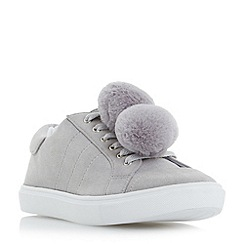 Head Over Heels by Dune - Grey 'Emza' pom pom trainers