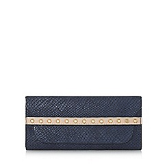 Dune - Navy 'Klio' stud detail purse with removable card holder
